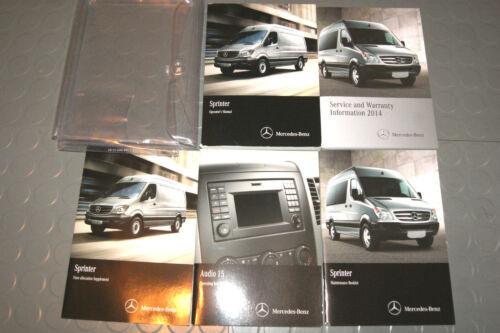 SET 2014 Mercedes Benz Sprinter Class Owners Manual w//Radio Manual
