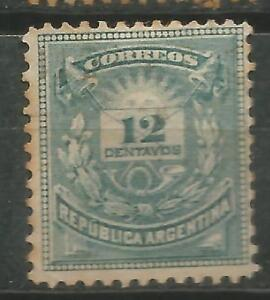 Stamps Argentina Scott # 54 New Without Rubber Marquillado Signed Latin America