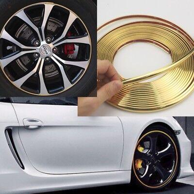 Red 8.5mm x 8M Plating Trim Strip Wheel Hub Protection Decoration Sticker A1