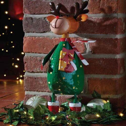 Christmas Rudolph Garden Sculpture Ornament For Garden or Home by Smart Garden