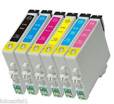 6 x Cartucce Inkjet Non-OEM Alternativo Per Epson R200,R220,R300,R320,RX300