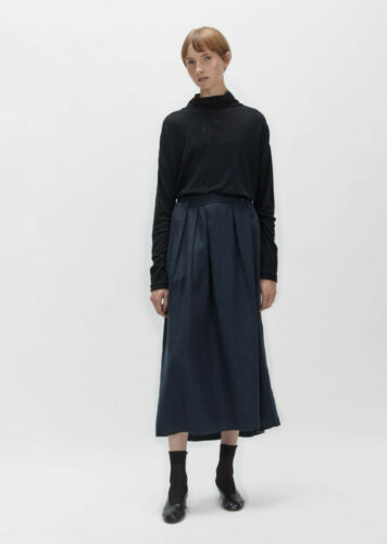 PAS DE CALAIS Japan Tencel Linen Skirt 36FR S la g
