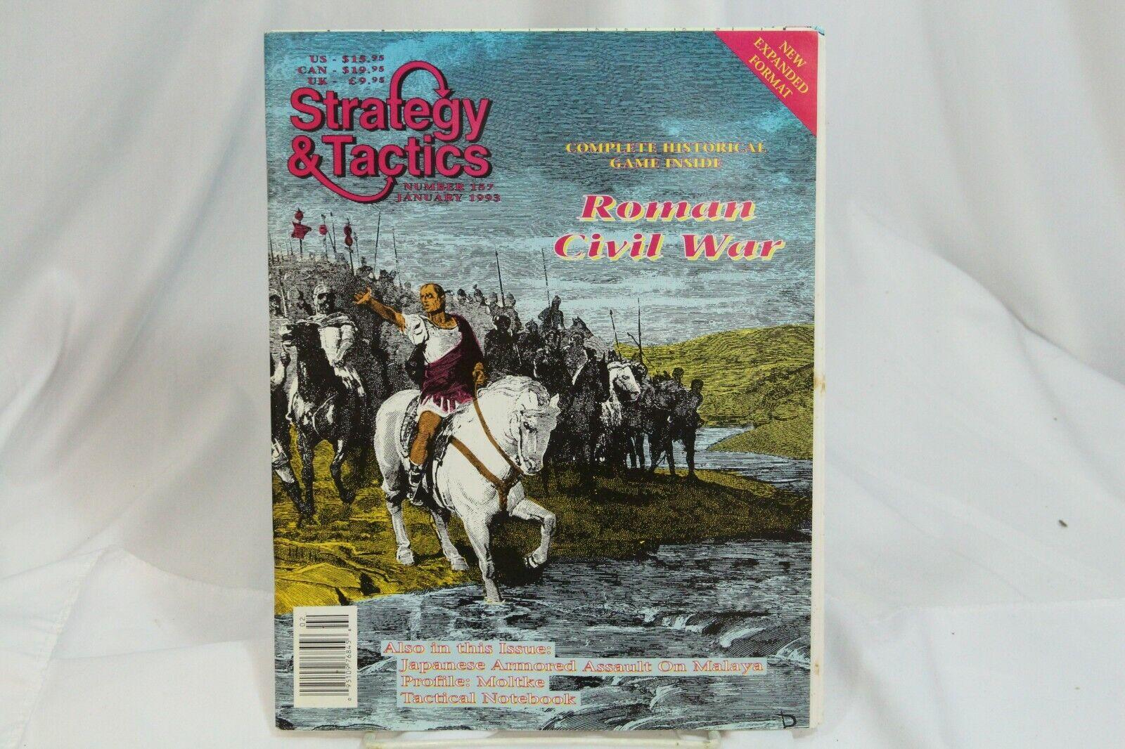 Strategy & Tactics Magazine War Games 157 Roman Civil War