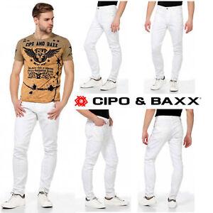 CIPO-amp-BAXX-Herren-Jeans-CD319C-NEU-Hose-Slim-Fit-Enges-Bein-Denim-Stretch
