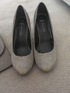 gold glitter shoes new look