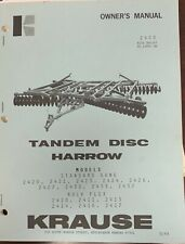 Krause Tandem Disc Harrow Owners Manual