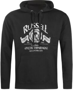Capable Russell Athletic Printed Logo Mens Hoody - Black