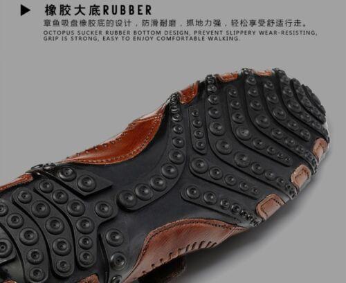 Mens Spring Autumn Soft Genuine Leather Casual Driving Shoes Moccasins Unique C8
