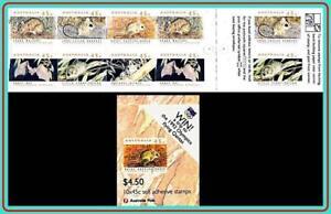 AUSTRALIA-1992-SMALL-ANIMALS-booklet-MNH-CV-14-00-BATS