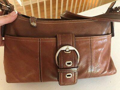 offizielle Seite geringster Preis Schuhe für billige Etienne Aigner Brown Leather Shoulder Bag Purse Multi ...