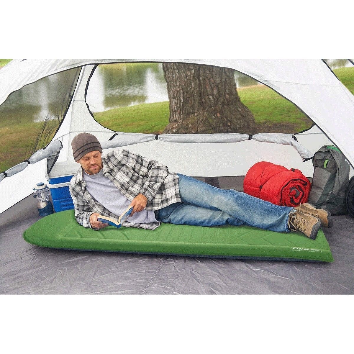 Lightspeed Outdoor Flexfoam Self-inflating Sleep Mat   Camping Pad with Bag  inexpensive