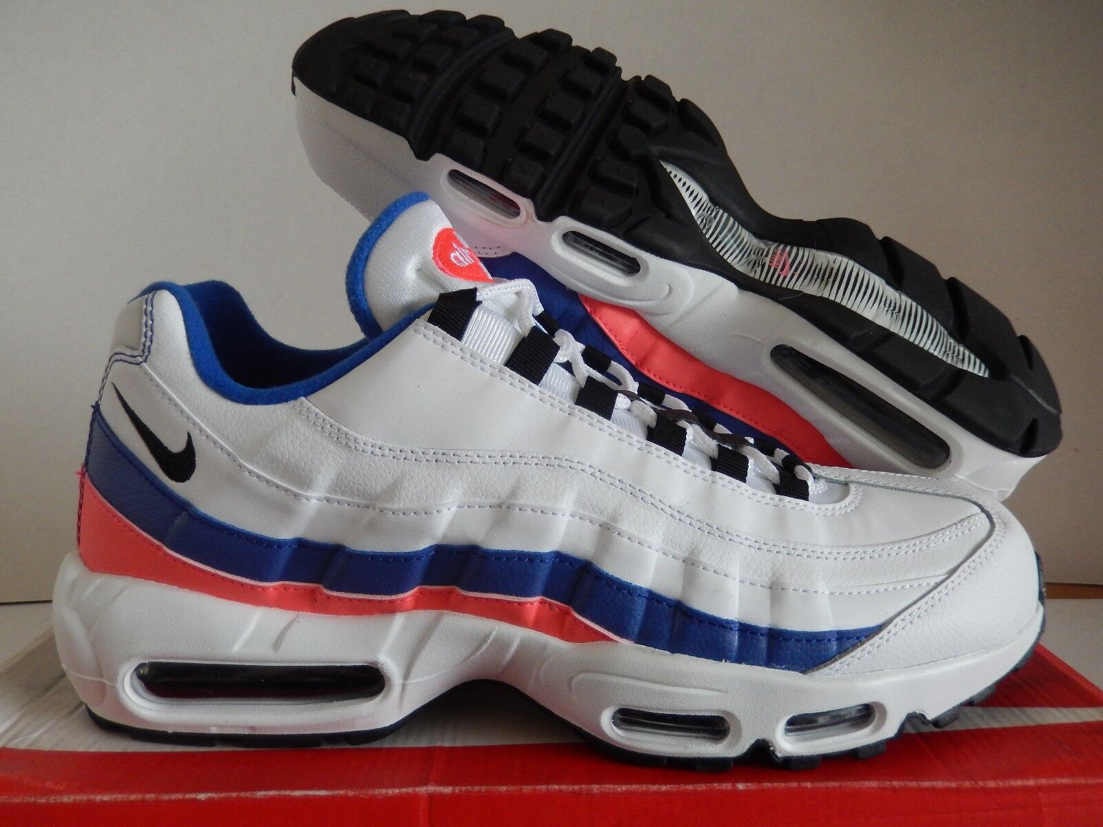 the best attitude f1941 fd879 ... where to buy nike air rojo max 95 esencial blanco negro solar rojo air  reduccion de