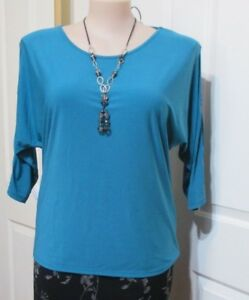 TOP-Millers-size-16-Aqua-3-4-Long-Sleeved-with-Silver-Studs-on-the-sleeves