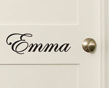 Custom Name Wall Door Sticker Decal Nursery Baby Kids Removable Decal 10~200cm
