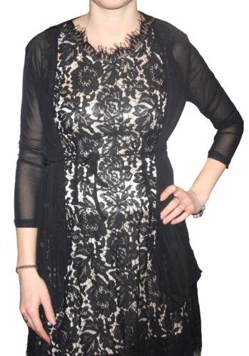 7058 Bolero Sposa Sera Giacca trasparente con cintura Long Rete Tessuto-Art