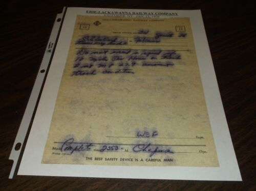 JANUARY 1976 ERIE LACKAWANNA TRAIN ORDER FALCONER, NY