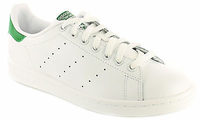Hommes/Hommes Blanches Adidas Originals Stan Smith à lacets Baskets TAILLES UK
