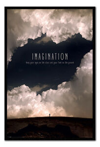 Imagination-Motivational-Quote-Framed-Cork-Pin-Notice-Board-With-Pins
