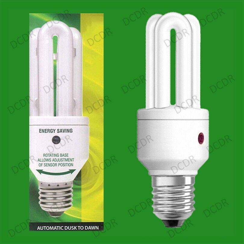 6x 15W LOW ENERGY DUSK TILL DAWN SENSOR SECURITY LAMP NIGHT LIGHT BULB E27 SCREW
