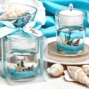 Bomboniere Matrimonio Bicchieri.Bomboniera Bicchiere Portacandela Tema Mare Stella Marina
