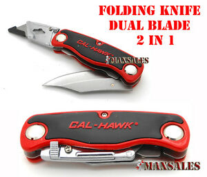 DUAL-BLADE-FOLDING-UTILITY-KNIFE-QUICK-CHANGE-BLADE-NEW