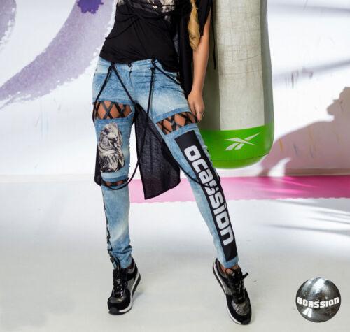 Blu XS Ritagli m similpelle Skinny Ocassion Jeans Jeans Jeans xA6C6aqZ