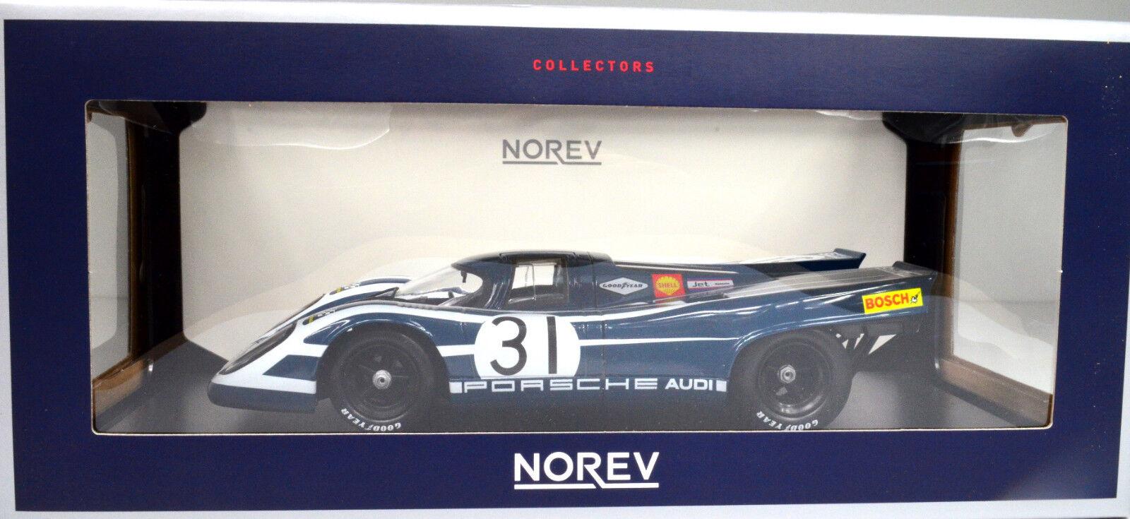Porsche 917K Baujahr 1970   31 31 31 Elford Hulme blau Maßstab 1 18 von Norev 736948