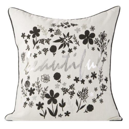 Modern fundas de almohada cojín cojines decorativos funda 45x45 40x40 negro blanco oro plata