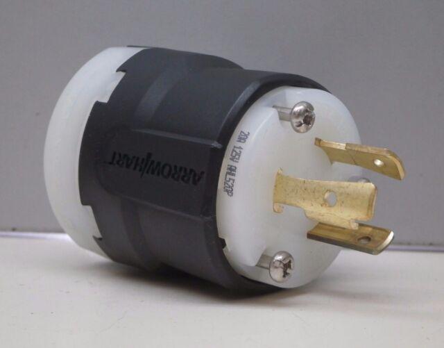 *NEW* COOPER ARROW HART 6332 LOCKING PLUG 30A-125V-2P-3W GRD NEMA L5-30P