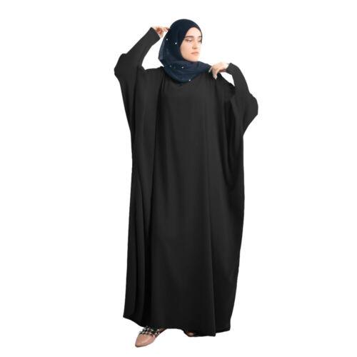 Muslim Women Prayer Abaya Maxi Dress Jilbab Kaftan Islamic Arab Long Robe Dubai