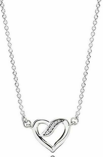 3d171f2694d27 Genuine Pandora Silver Ribbons Of Love Necklace - 590535CZ 45CM
