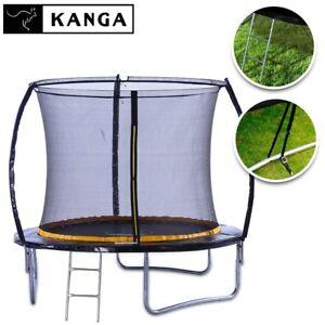 KANGA-8ft-Premium-Trampoline-With-Enclosure-Safety-Net-Ladder-amp-Anchor-Kit