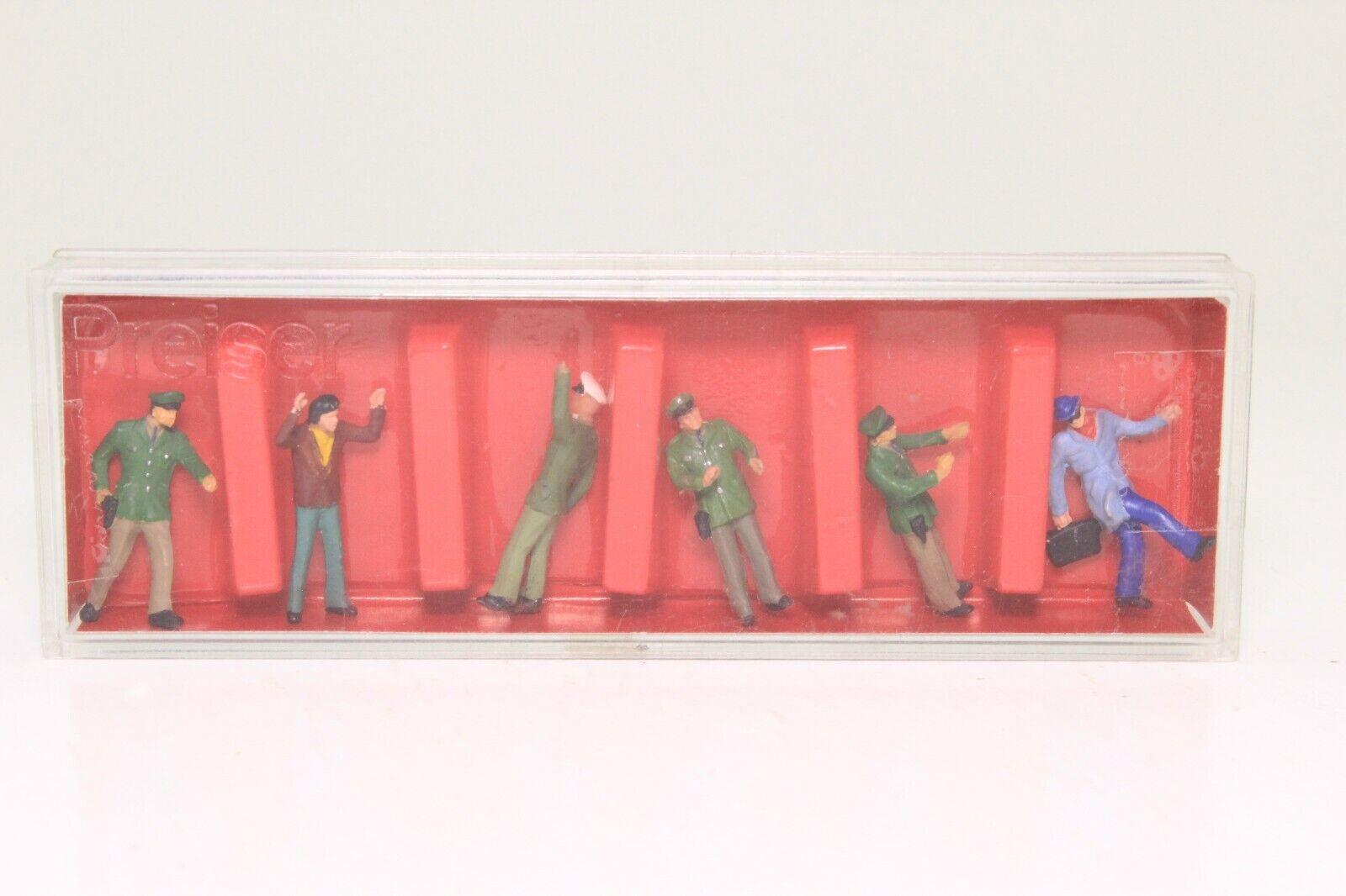 Preiser 14004 H0 Sitzende Reisende Bänke 6 Figuren handbemalt Neu