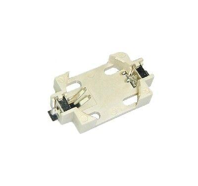 10pcs CR2032 CR2025 CR2016 SMD PCB Mount 2 Pin Cell Battery Socket Holder Case