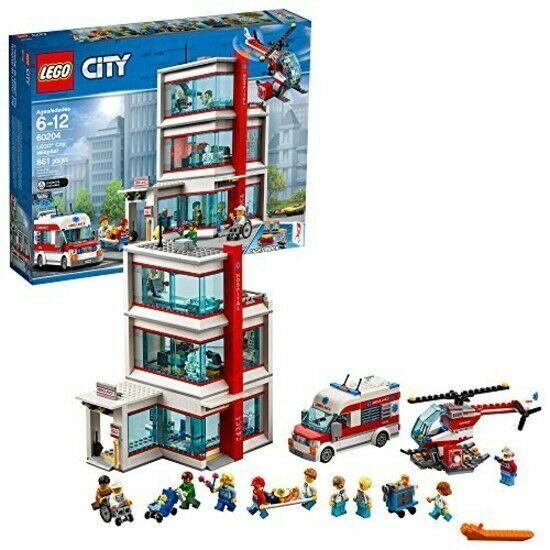 NEW LEGO City 60204 City Hospital Building Set 861 pcs RETIRED NISB