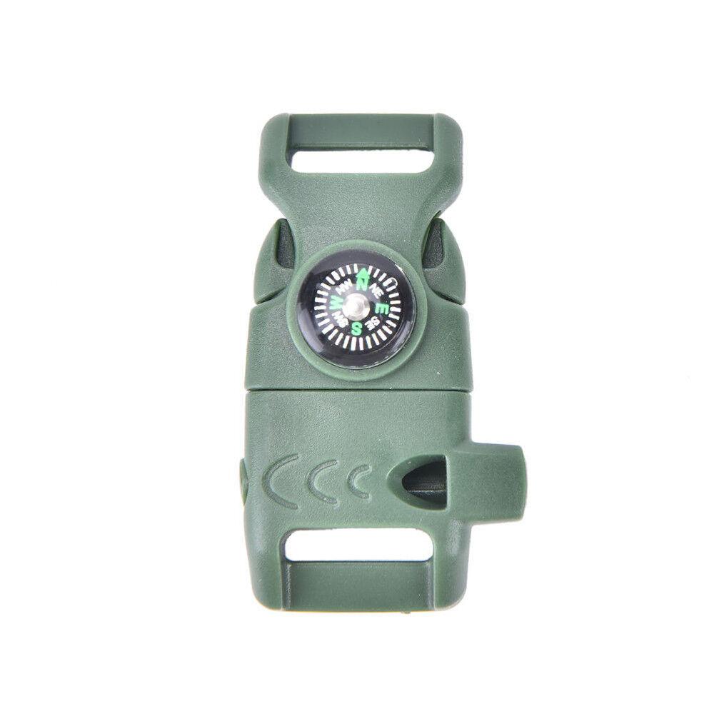 boucle avec sifflet COMPAS Allume-feu silex Scaper pour pour pour PARACORDE BRACELET NT 72fc95