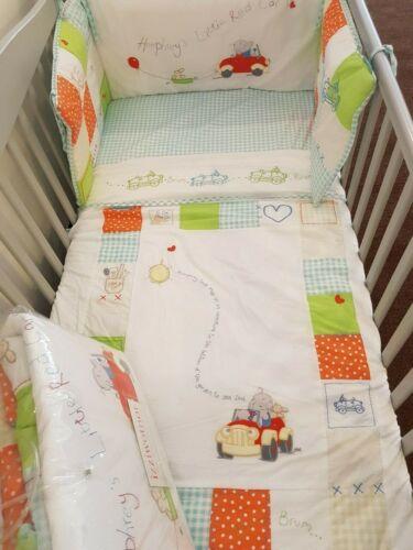 Humphrey/'s Corner Little Red Car 5 Piece Cot Nursery Bedding Bale Bargain!!