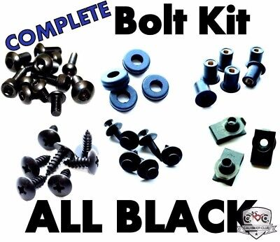 Xitomer R6 Full Sets Fairing Bolts Kits for 2006 2007 Yamaha YZF-R6 Matte Black Mounting Kits Washers//Clips//Grommets//Nuts//Fastenings