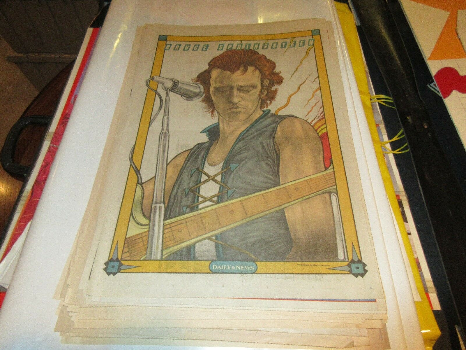 Bruce Springsteen , New York Sunday News , Comic Poster