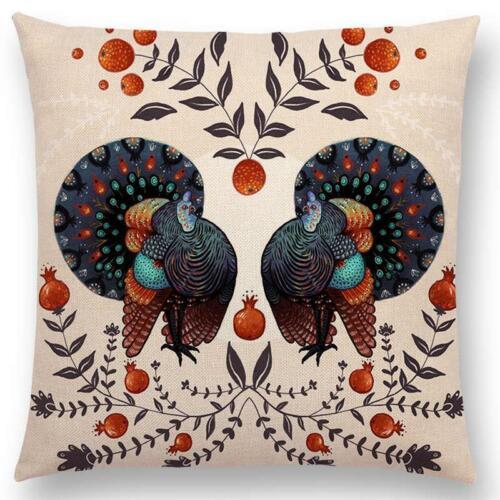 Pássaro Colorido Flores Mariposas Asas Buquê Rosa Fronha Galinha De Mola
