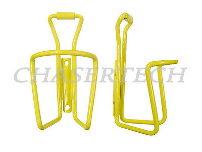 New MTB Road Bicycle Bike Alloy Bottle Cages Painted Yellow 1 Pair