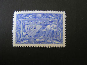 CANADA, SCOTT # 302, $1.00 VALUE BRIGHT ULTRA 1951 FISH RESOURCES ISSUE MNH
