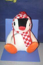 "Pingu Penguin Pinga Checked pattern Scarf Super DX Plush doll BANPRESTO 11.2"""