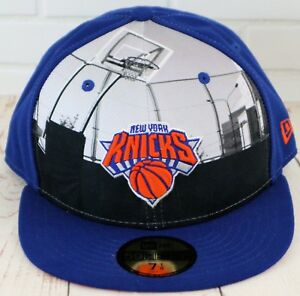 Details about New Era New York Knicks 59 Fifty Round D Way 7 1 8 Kids  Fitted Cap Blue bdede43567d