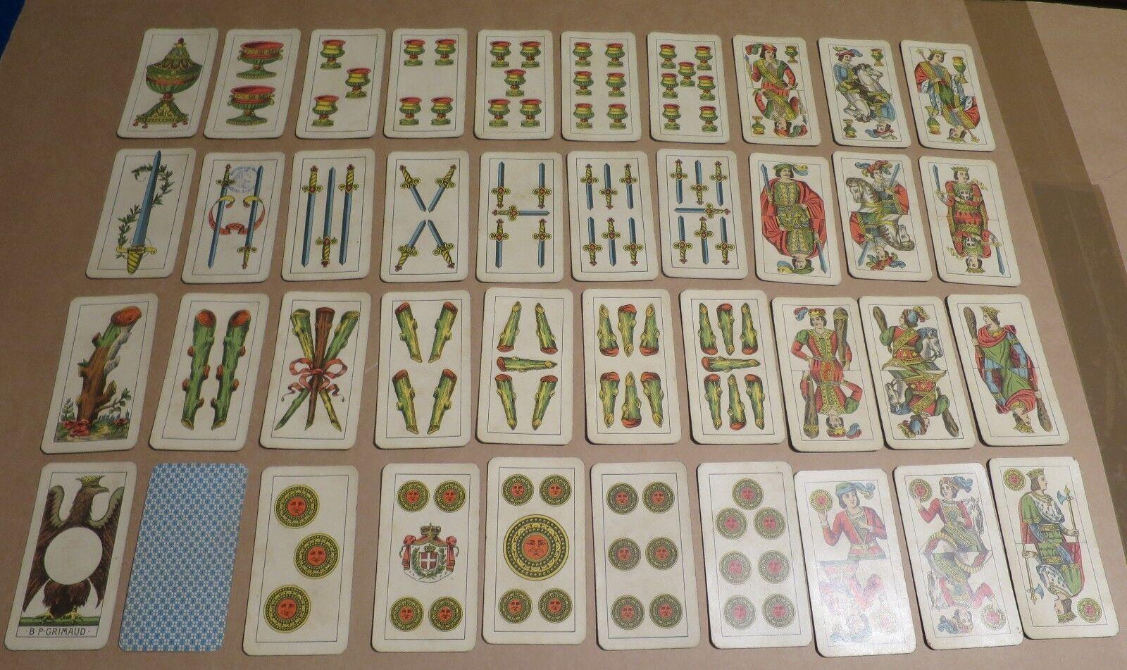 Per le carte a giocare Italia disperante antico-Set di 40 CARTE BP Grimaud