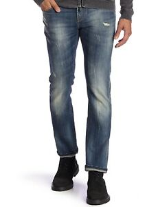 John Varvatos Star USA Men/'s Bowery Fit Slim Straight Jeans BQRQ Blue Denim Navy