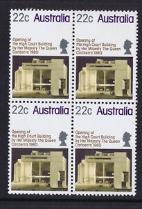 Australian-Decimal-Stamps-1980-22c-Opening-of-the-High-Court-Block-4-MNH