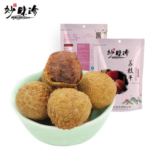 Chinese Food Snacks Fruit Dry【妙味珍 荔枝干 500gX2袋】Dried lichee莆田荔枝干核小肉厚 Dried Lychee