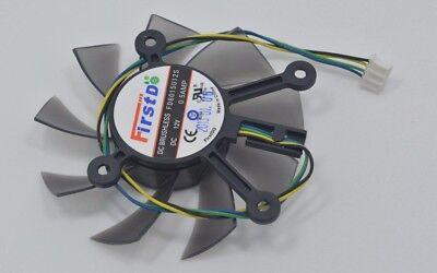 75mm ATI AMD HD7850 HD7950 Fan Replacement 47mm 4Pin FD8015U12S 12V 0.5A R108