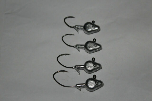 25 Count 1//16oz #2 Hook Roundhead Jighead Crappie Panfish